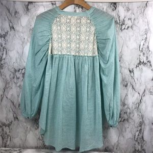 Anthropologie Umgee Button Lace Blouse Top S